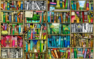 Bookshelf by Colin Thompsonhttp://www.gelaskins.com/gallery/Colin_Thompson/Bookshelf