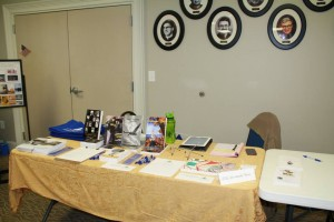 The nice vendor table we had set up.